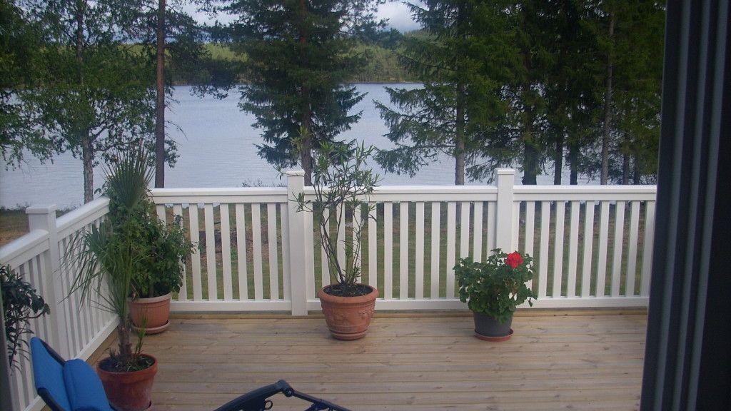 New Piteå räcke i New Englandstil med stolpe Ä115, lock