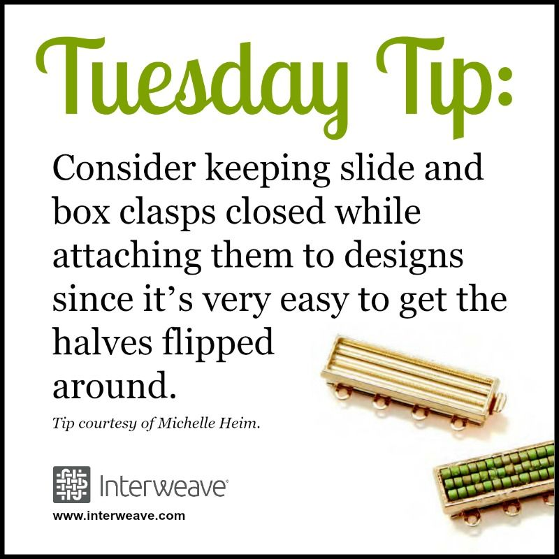 Tuesday Tip Adding a Box Clasp to Your Beaded Jewelry Design
