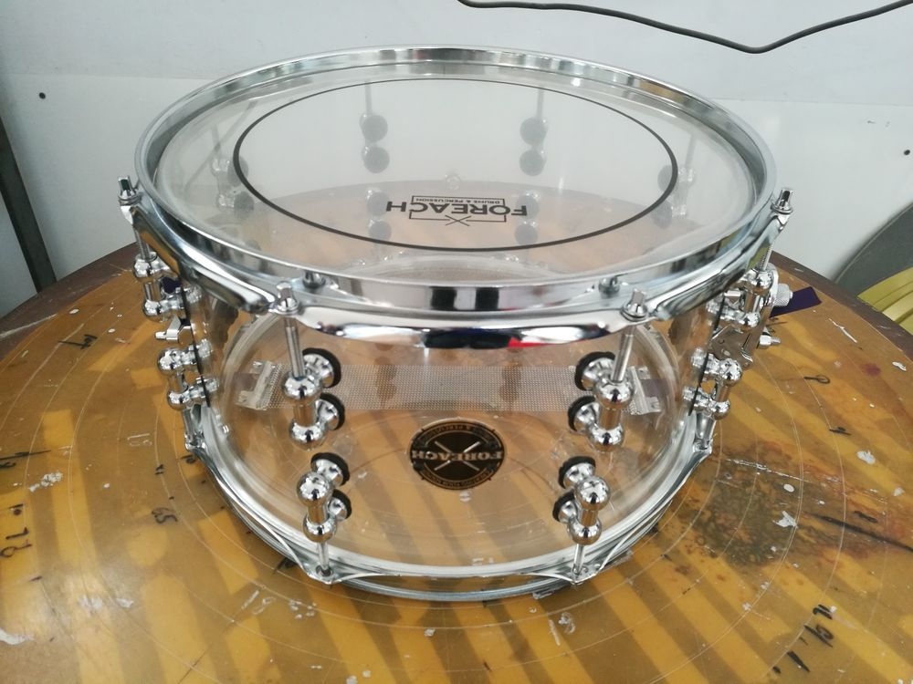 Crystal Acrylic Acoustic Snare Drum 13 X7 Free Gift Included Foreach Snare Drum Drums Snare