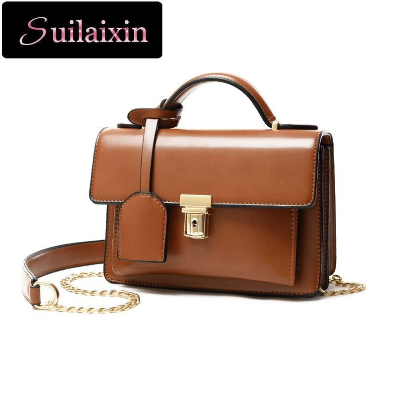 100% High Quality Crossbody Bags for Women Leather Small Shoulder Bags  Girls Vintage Chain Envelope Clutches Flap Bag Bolas cec46935af915