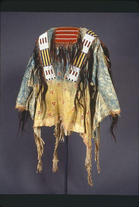 Collections Search Center, Smithsonian Institution. Мужская рубаха, Итазипчо Лакота.