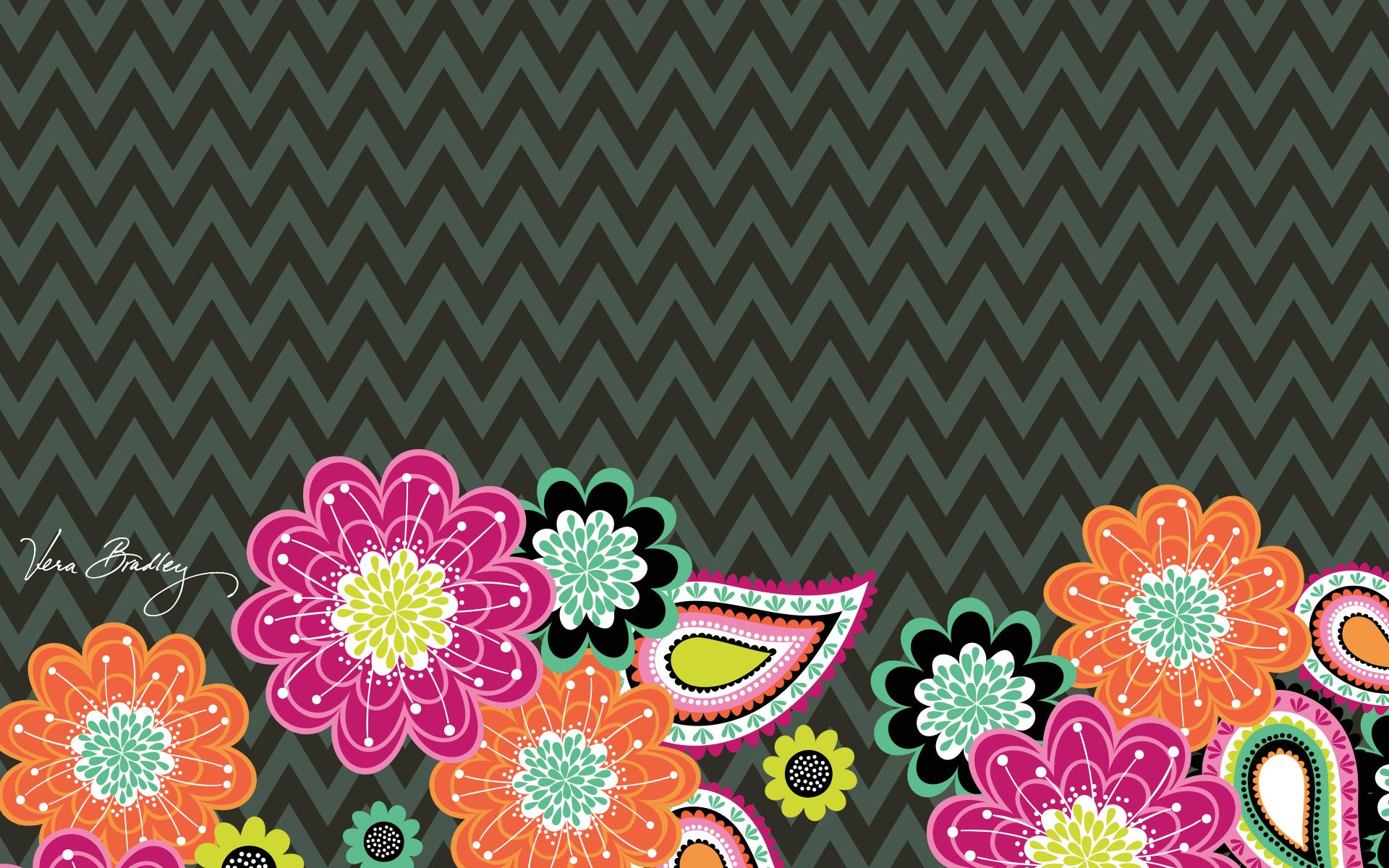 dress your tech ziggy zinnia desktop wallpaper vera bradley