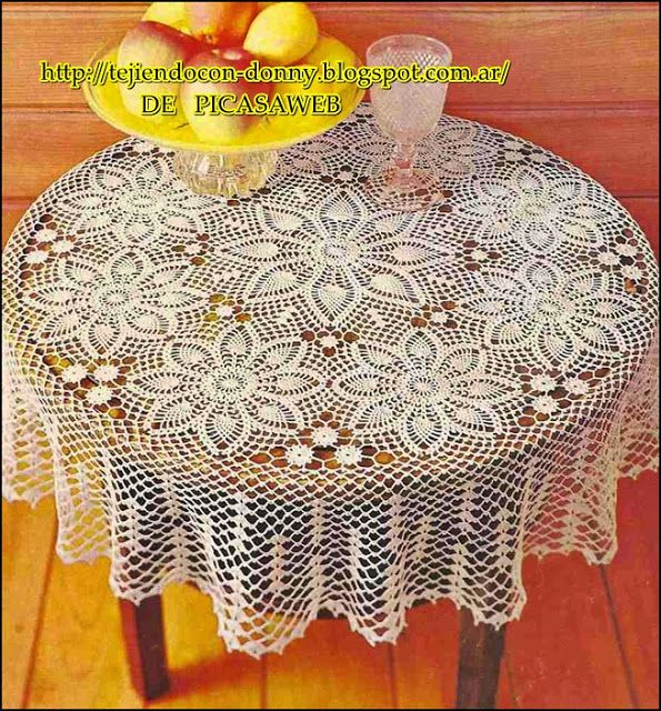 TEJIDOS A CROCHET - GANCHILLO - PATRONES: crochet round tablecloth ...