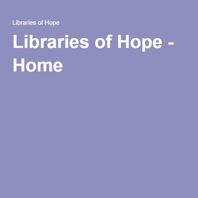 Libraries of Hope - Home