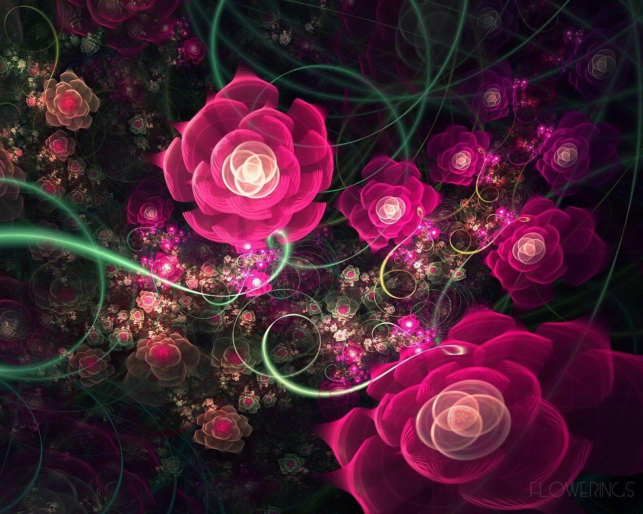 Skachat 1280x1024 Abstrakciya Fraktal Rozovyj Cvety Cvetenie Fractal Art Galaxy S8 Wallpaper Flower Art