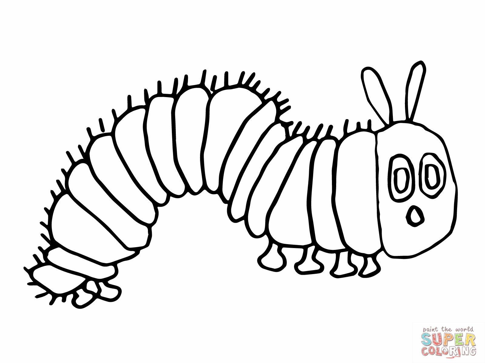 Very Hungry Caterpillar Coloring Page Cool Stock Moth Clipart Eric