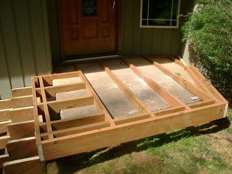 Floating Framing Over Concrete Steps Concrete Steps Concrete Patio Deck Over Concrete