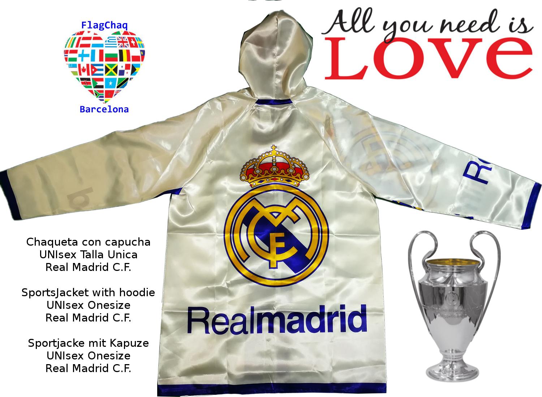 única Talla Madrid C FC Real con Chaqueta Fútbol capucha F Club 4wgSqS