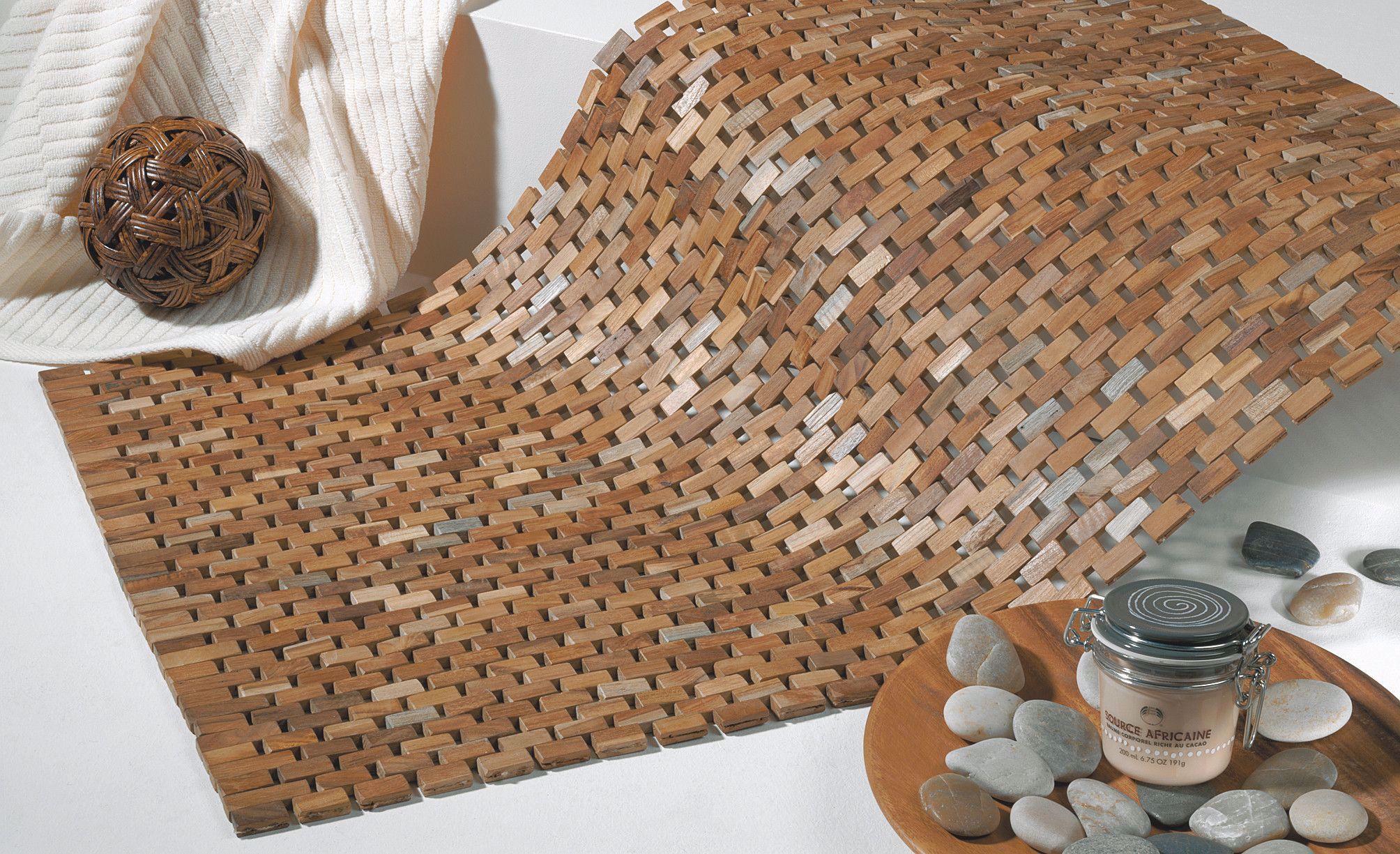 Sealskin Woodblock Badematte 52 x 90 cm