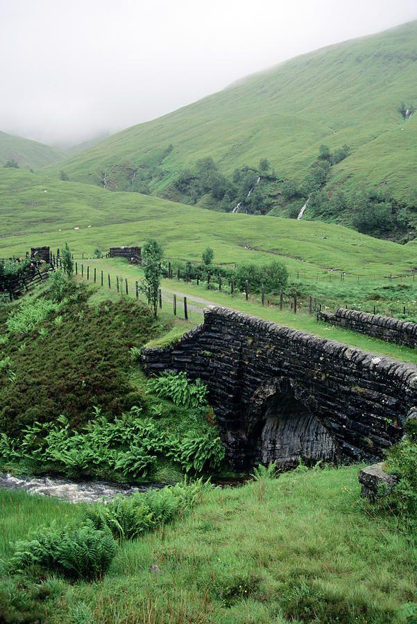 Scotland Highlands Stone Bridge by Vintage Images #travelscotland