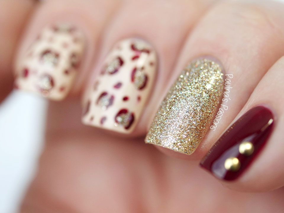Fall Nail Art with Leopard Print by Paulina\'s Passions | Autumn Nail ...