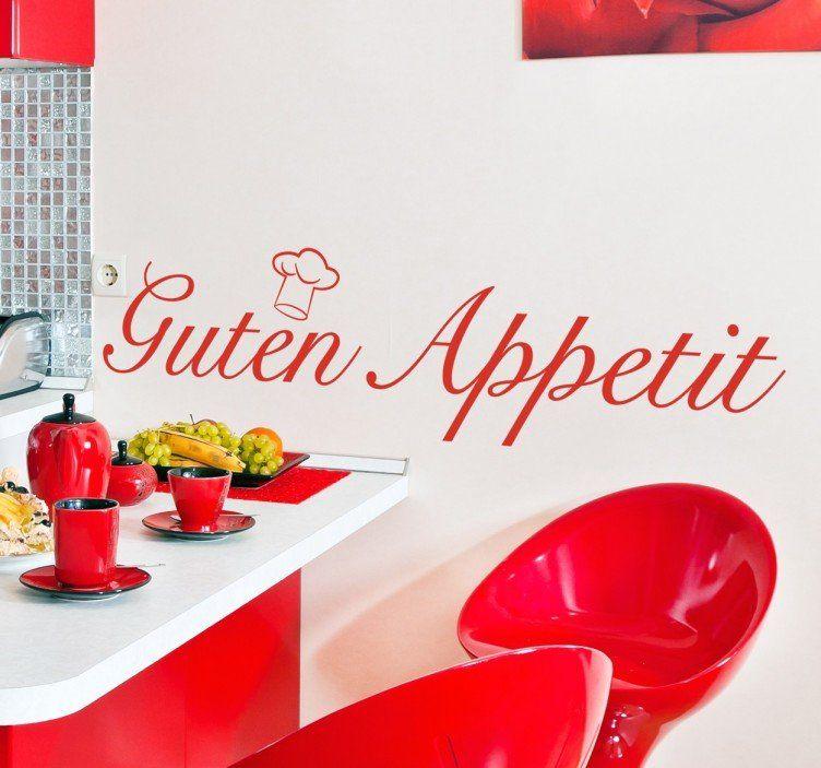 Guten appetit Wandtattoo Küche Pinterest