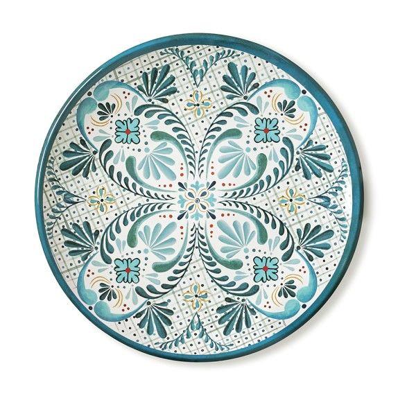 Veracruz Blue Melamine Dinner Plates For Outdoor Dining And Entertaining
