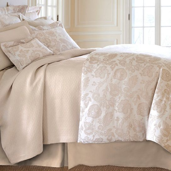 savina wheat matelasse coverlet annieselke luxe collection literie de damas jupes lit decoration elegante