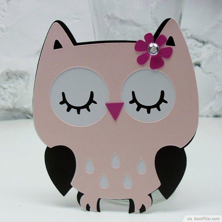 Unique Handmade Owl Baby Girl Shower Invitation ❥❥❥ http ...