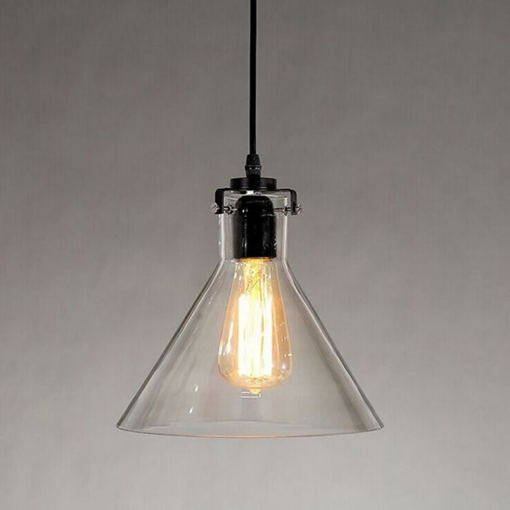 New vintage clear glass pendant light metal hanging lamps e