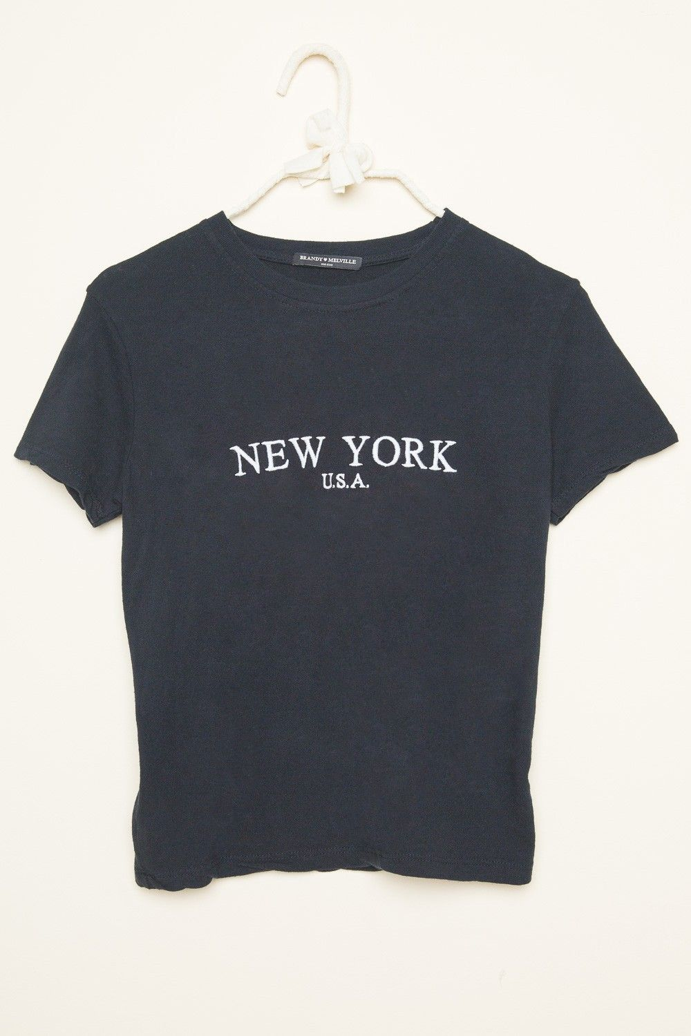 51352e77 Jamie New York USA Embroidery Top - Brandy Melville | Clothes in ...