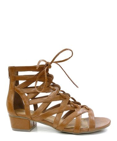 Another great find on #zulily! Tan Tonya Lace Up Sandal by