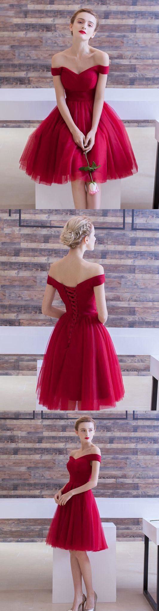 Burgundy homecoming dress cheap party homecoming dress with sleeve