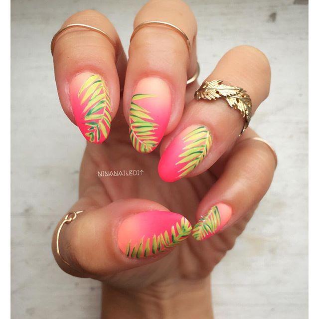 Tropical nails | Nails  | Nails, Tropical nail designs ...