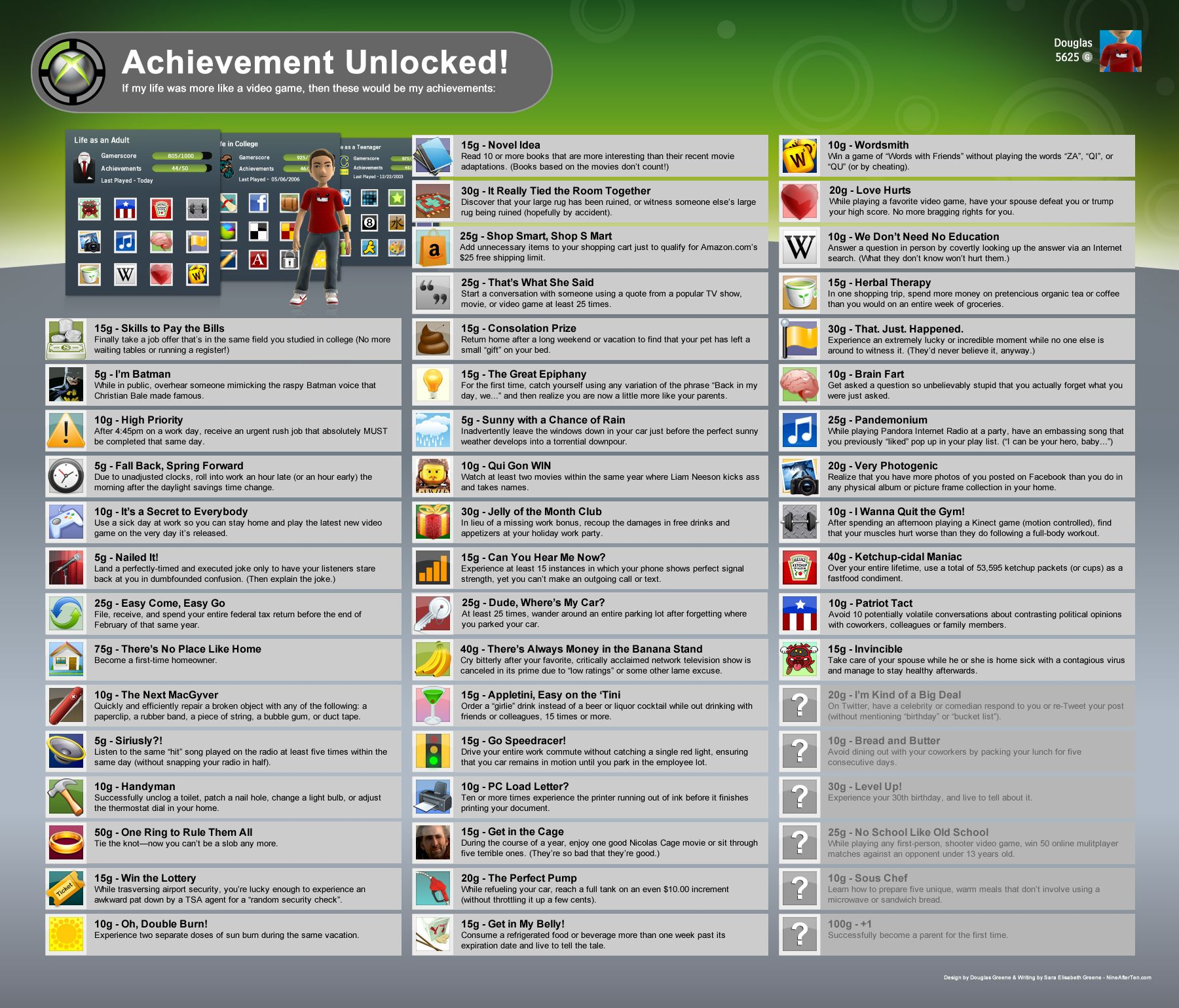 If my life was more like a video game    - Xbox Achievements
