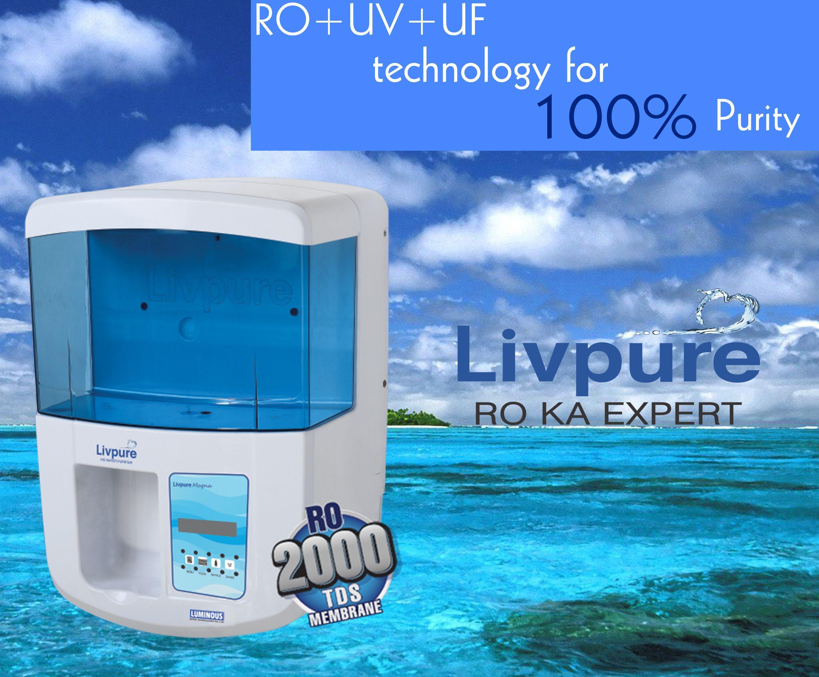Buy Livpuretouch2000plus series with the unique RO+UV+UF