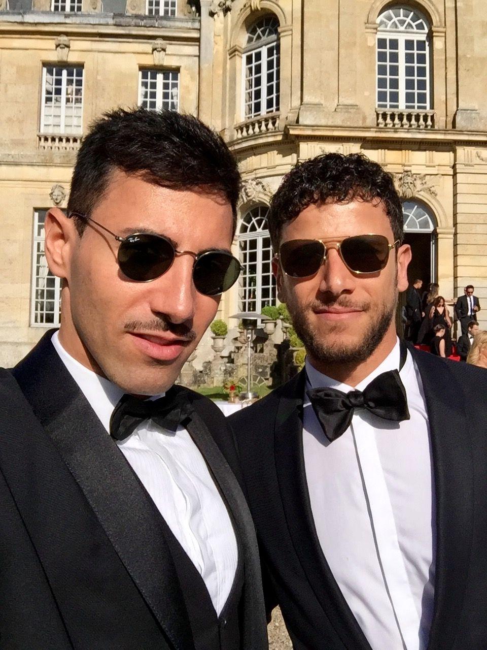 #andreeandjordan Guests Ali Selmi and Ayhan Yuruk dressed in Zegna and Tom  Ford #sunglasses