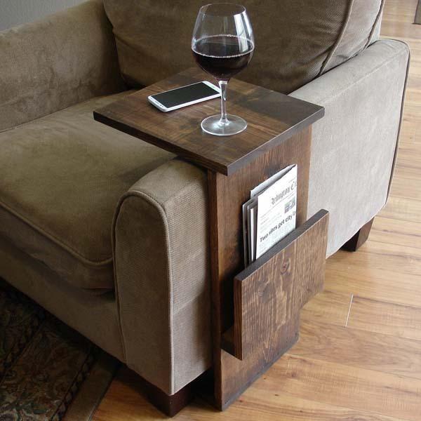 The Handmade Sofa End Table With Side Storage Slot Sofa Handmade