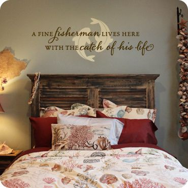 The Catch Of His Life Bedroom Wall Decor Above Bed Bedroom