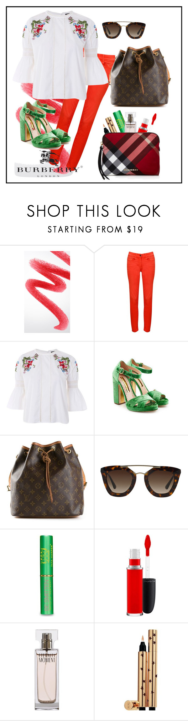 """wtw?"" by chambiewonder ❤ liked on Polyvore featuring Burberry, Relish, Topshop, Rupert Sanderson, Louis Vuitton, Prada, Tata Harper, MAC Cosmetics, Calvin Klein and Yves Saint Laurent"