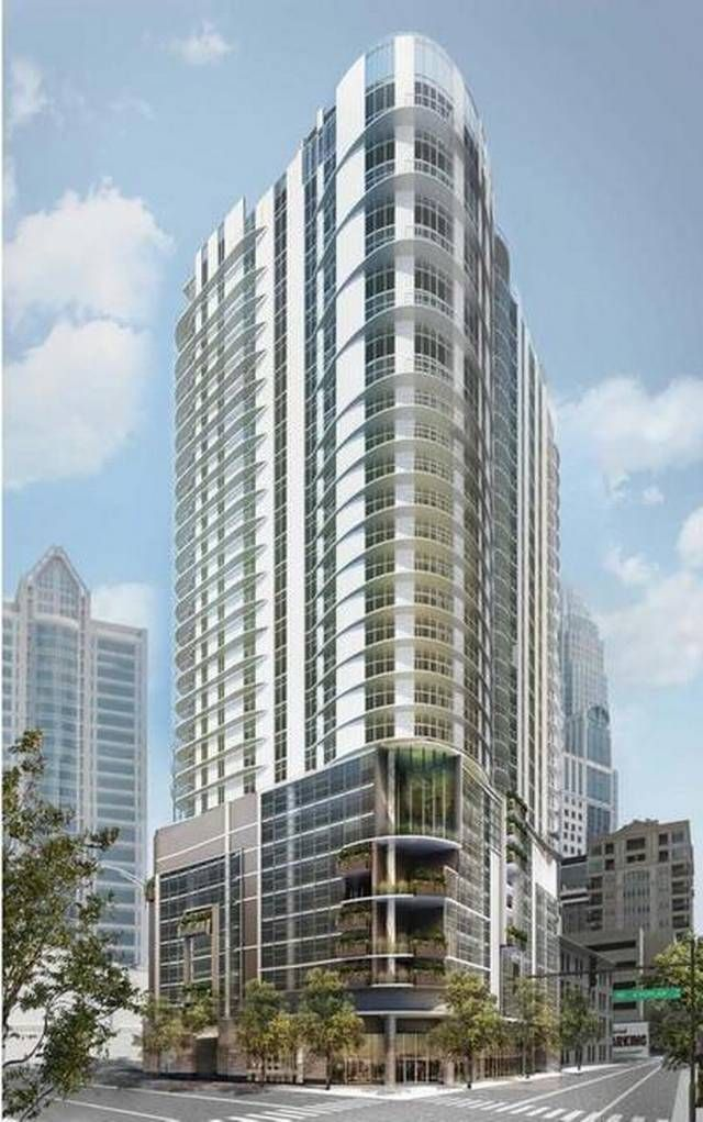 Superbe The Ascent Uptown Apartment Tower Planned By Greystar At Third And Poplar  Streets.