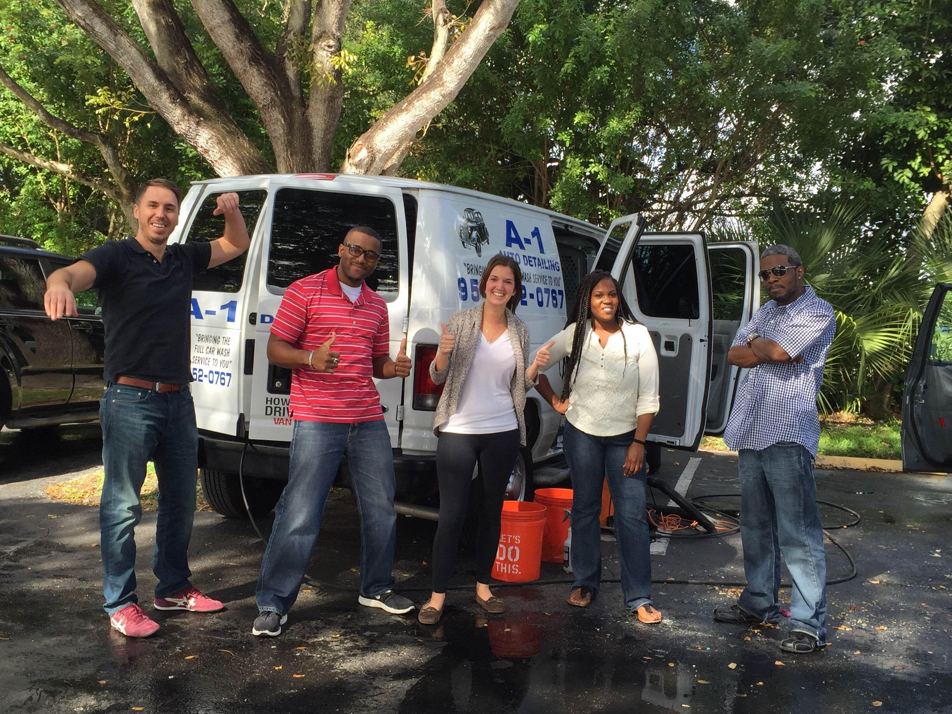 #RandMarketing management rewarded their employees hard work with a free car wash!
