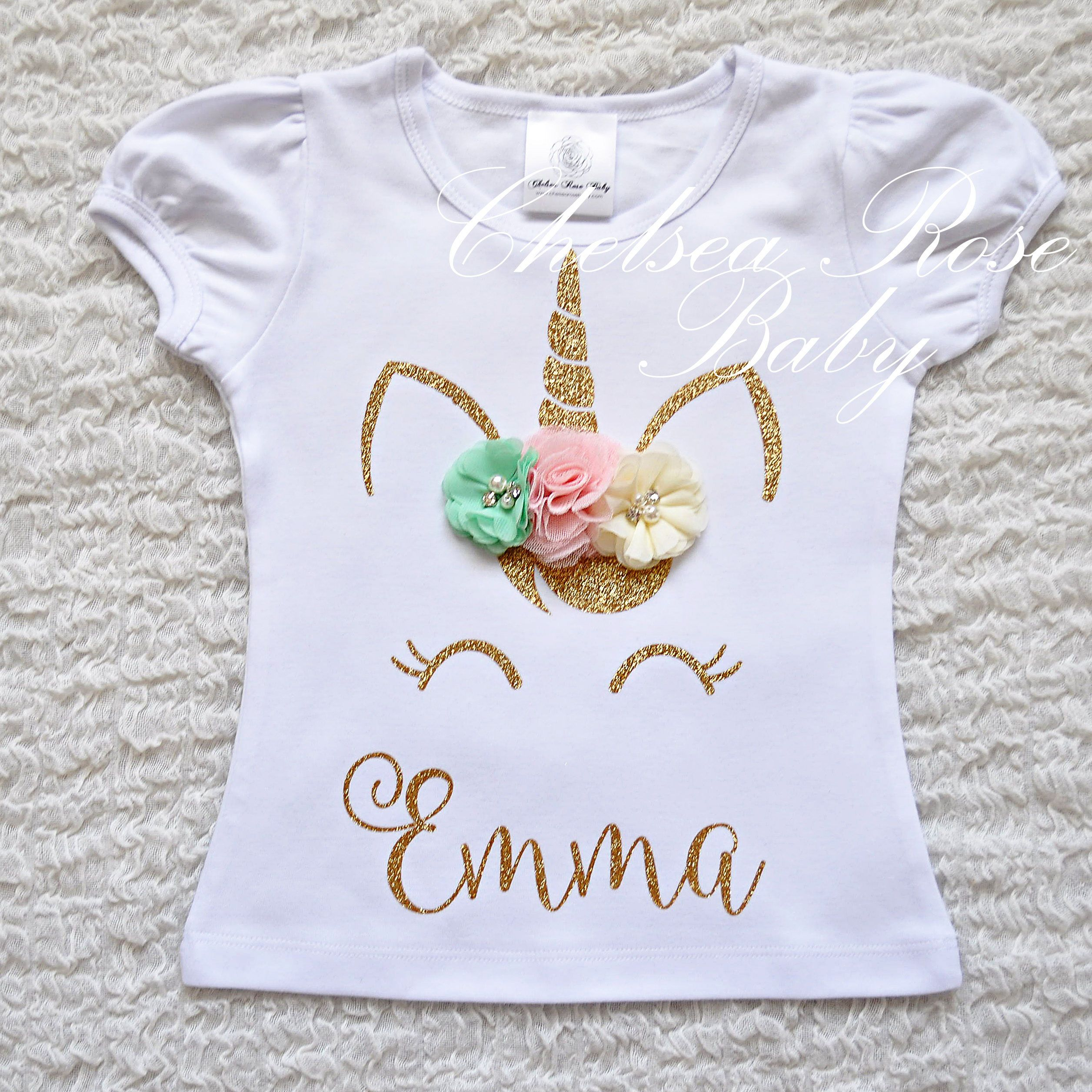 Unicorn Birthday Parties 10th Girl Shirts Outfit