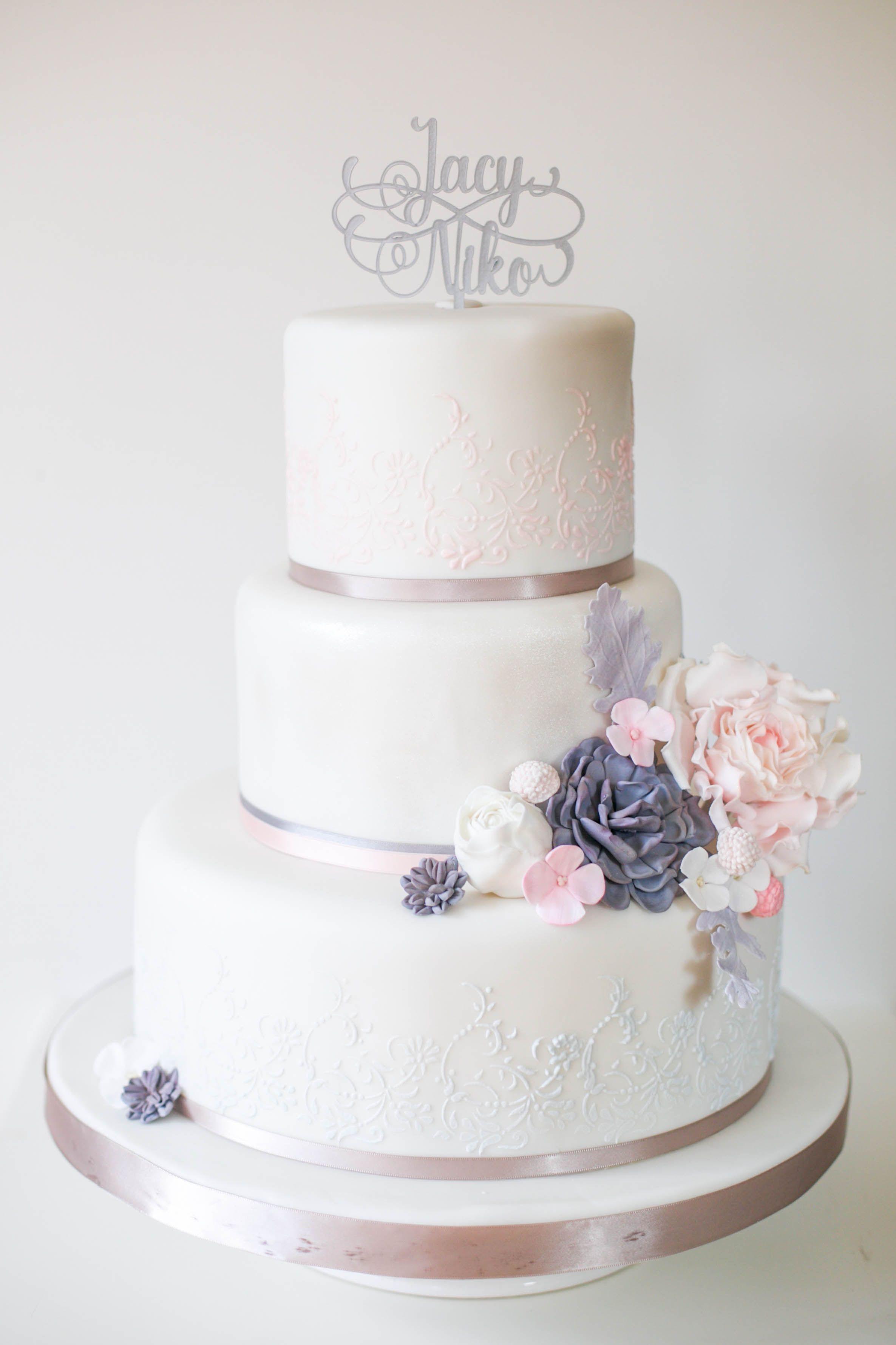 Hochzeitstorte Elegant Klassisch Sukkulenten Hochzeitstorten
