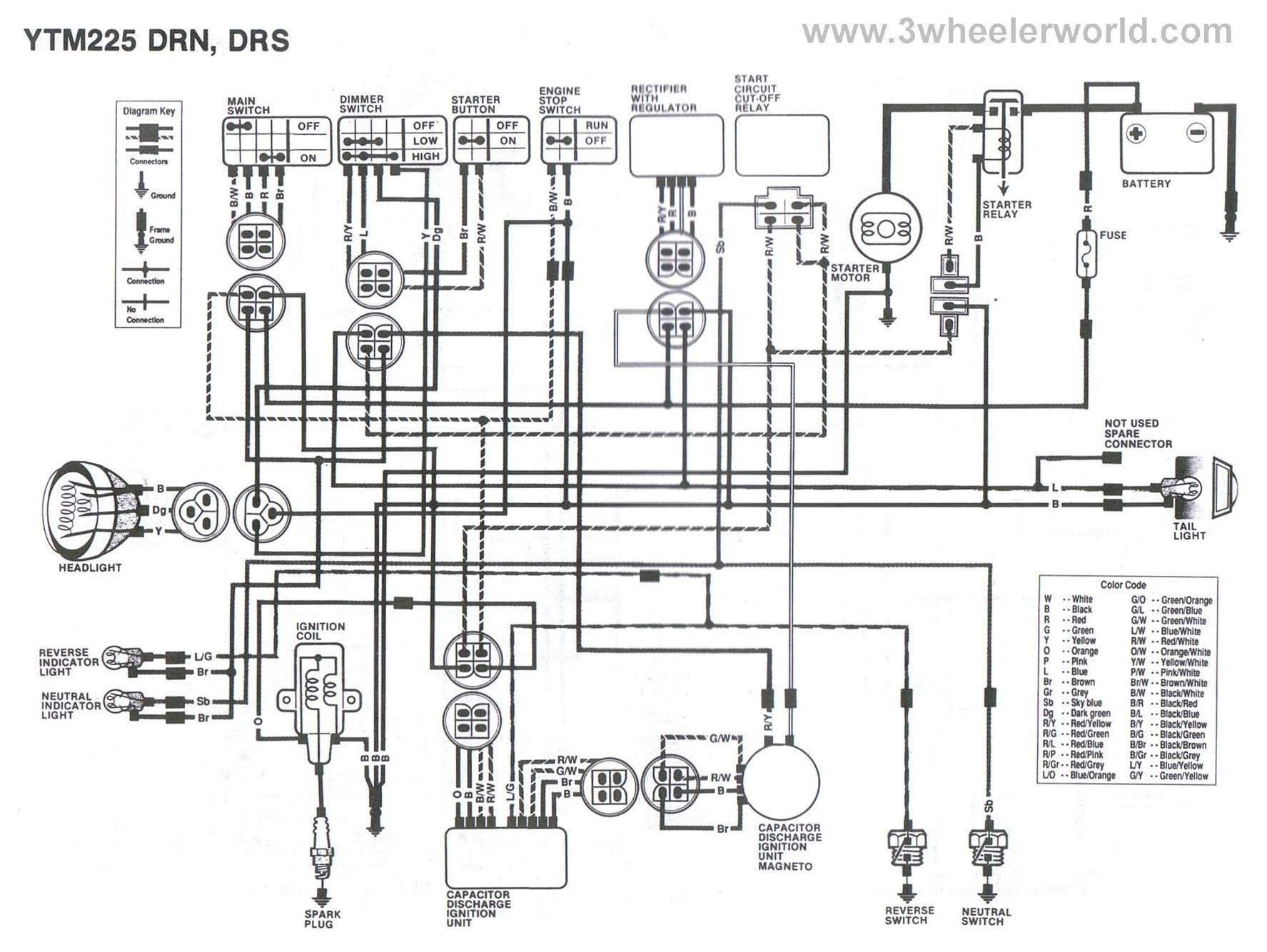 Unique Yamaha Moto 4 Wiring Diagram In 2020 Big Dog Motorcycle Motorcycle Wiring Diagram