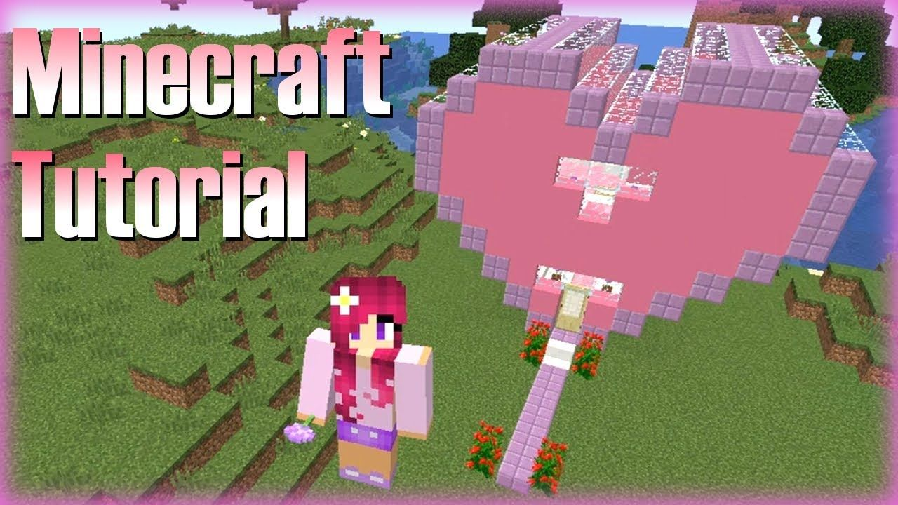 Minecraft How To Build A Heart House Tutorial 1 Minecraft