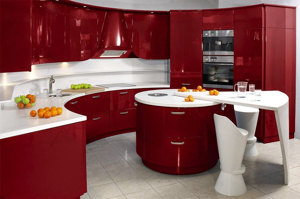 Diseño de Cocinas en colores Rojo y Negro   Hogar   Pinterest ...