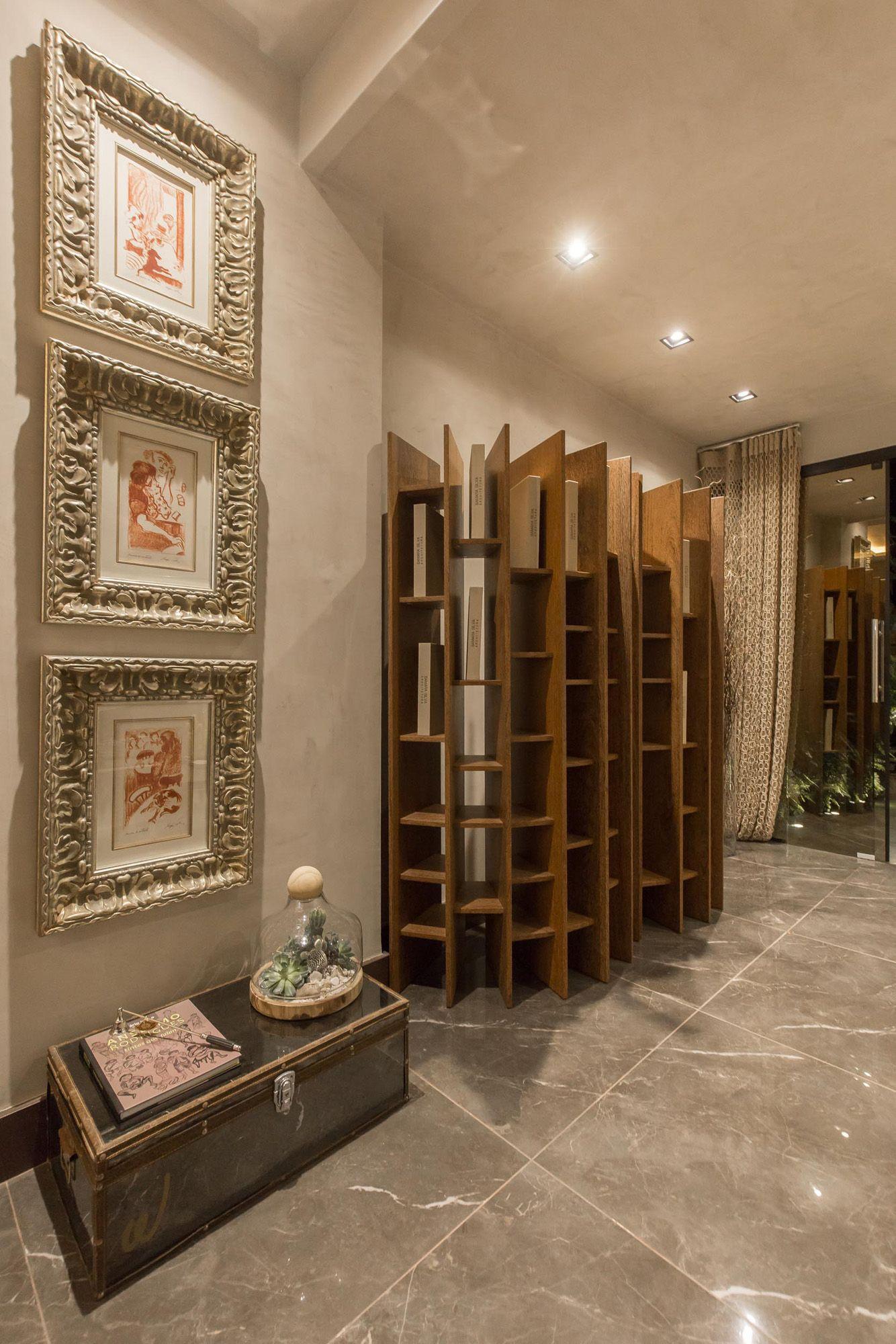Lounge Com Porcelanato Pulpis Gray Eliane Revestimentos Por Samara  # Muebles Tamarindo Guadalajara