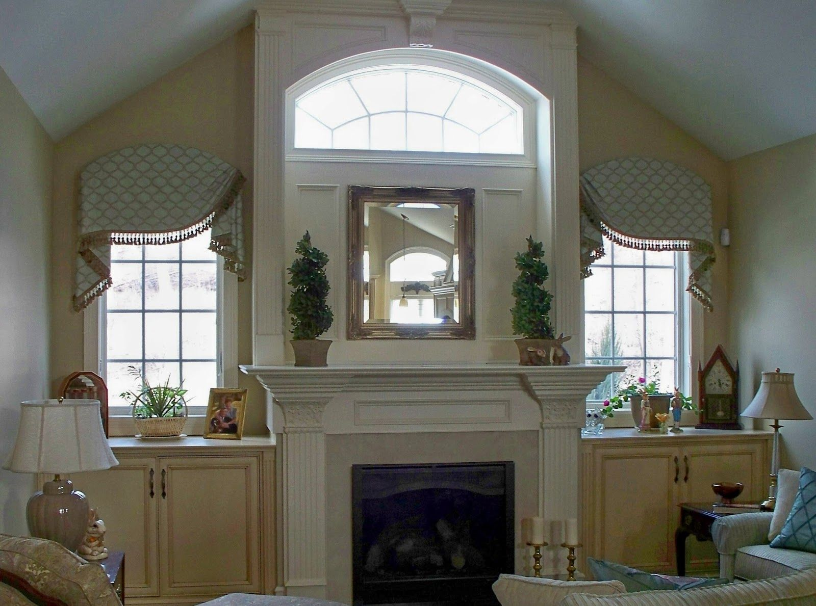 Image result for half circle window over fireplace | Scott's ...