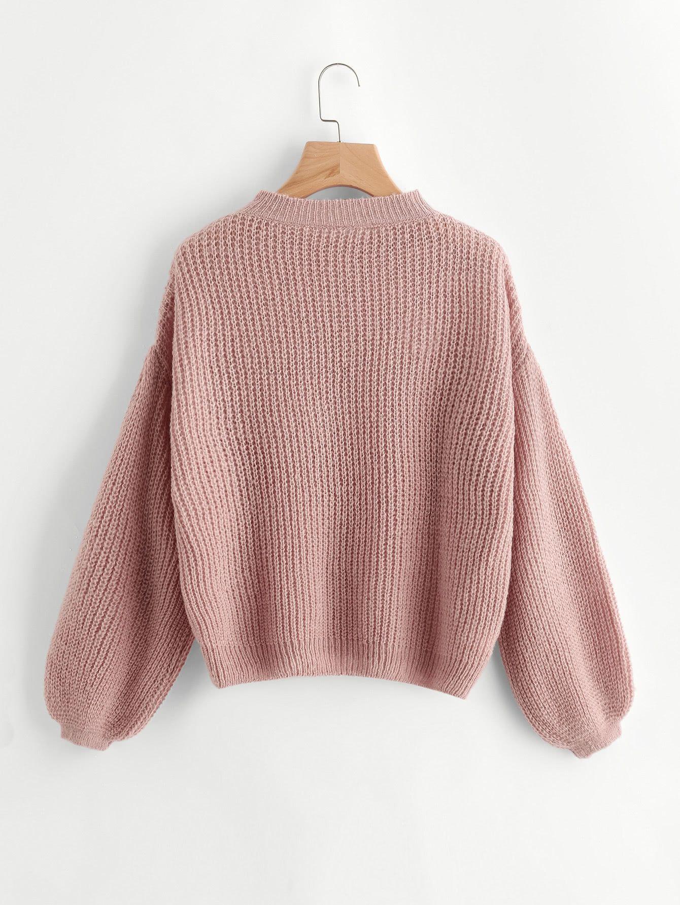 Pullover mit sehr tief angesetzter Schulterpartie und