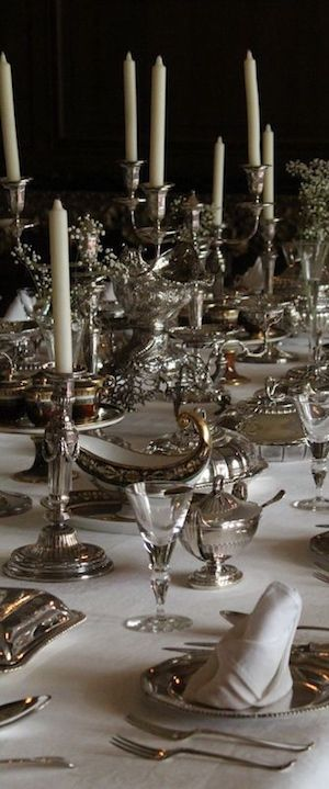 I Love The Casual Use Of Silver Candlesticks Silver Plate