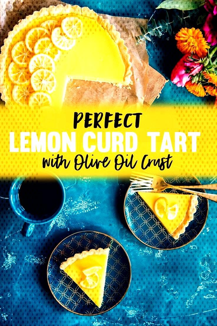 A Side of Sweet - An SF Life + Style Blog Best Lemon Curd Tart Recipe with Flaky Olive Oil Crust to