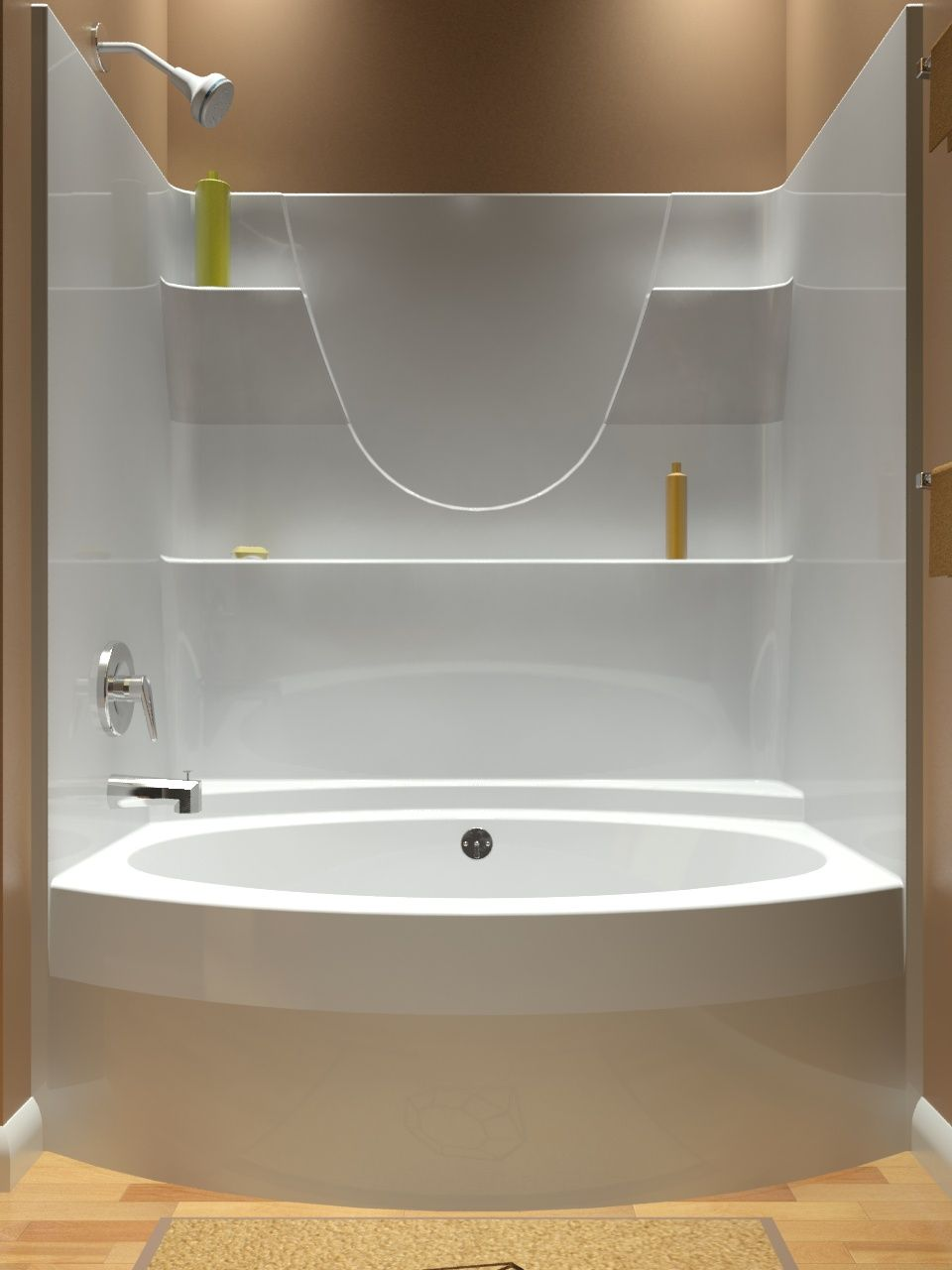 Tub and Shower  One Piece T 603580 Diamond Showers SHOWER TUB UNITS Pinterest