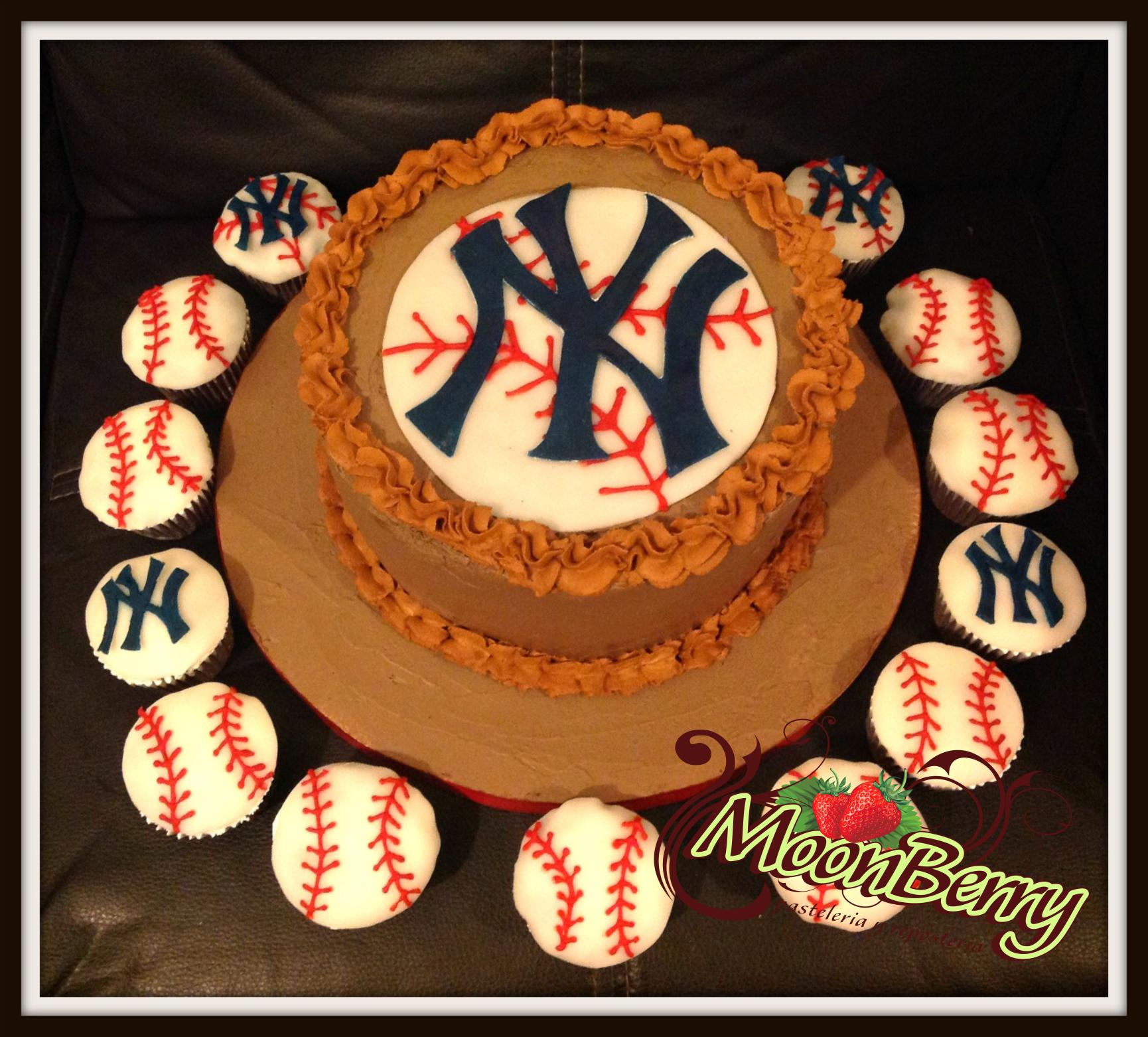 Yankees Cake En Pasteleria Moonberry