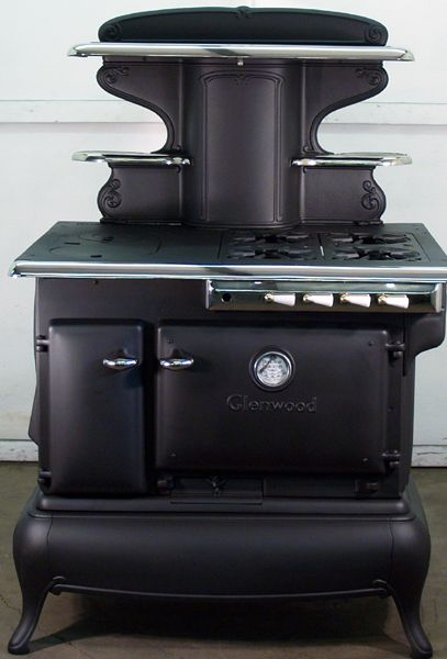 Combination Dual Fuel Antique Cook Stove Gas/wood