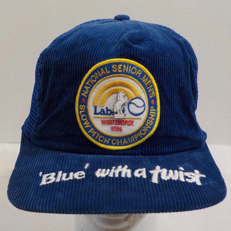 Labatt Blue Beer Whitehourse Hat Cap Baseball Trucker