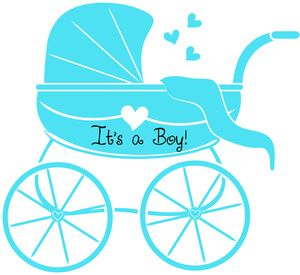 baby boy clipart image baby shower graphic of stroller or baby rh pinterest com