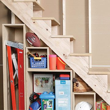 How to Build Under-stair Basement Storage Shelves - Adding Extra Storage  Space - Built