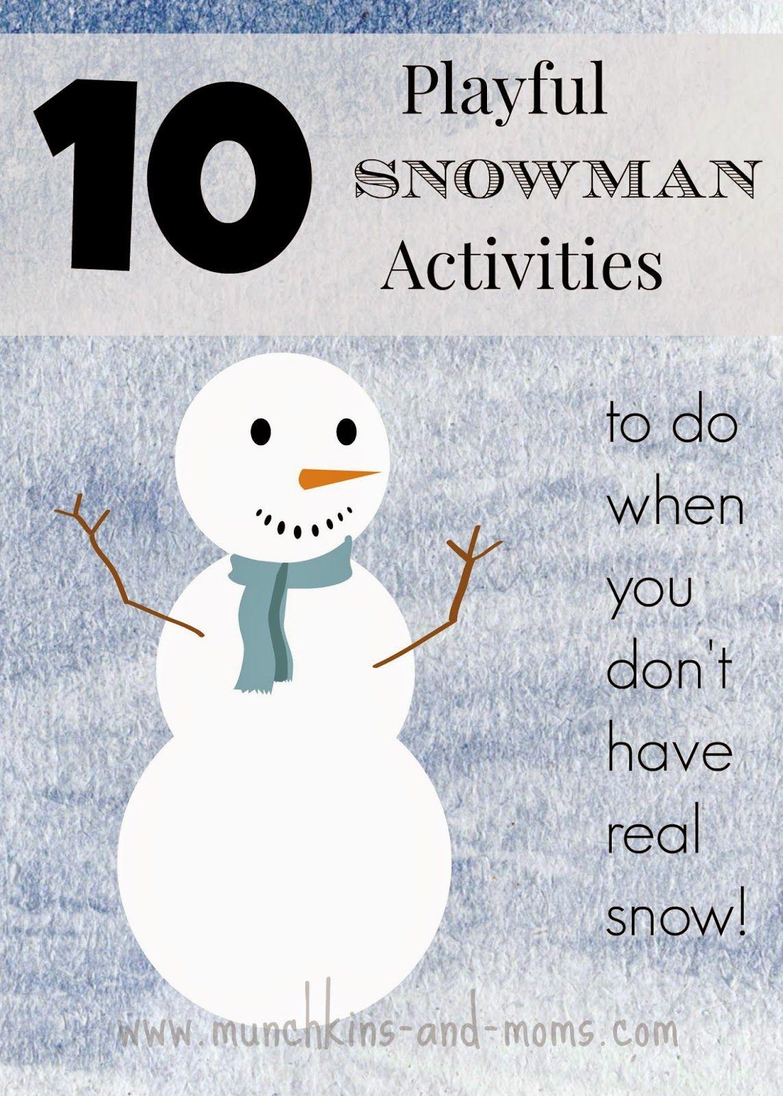 10 Playful Snowman Activities And A Mega Cash Giveaway