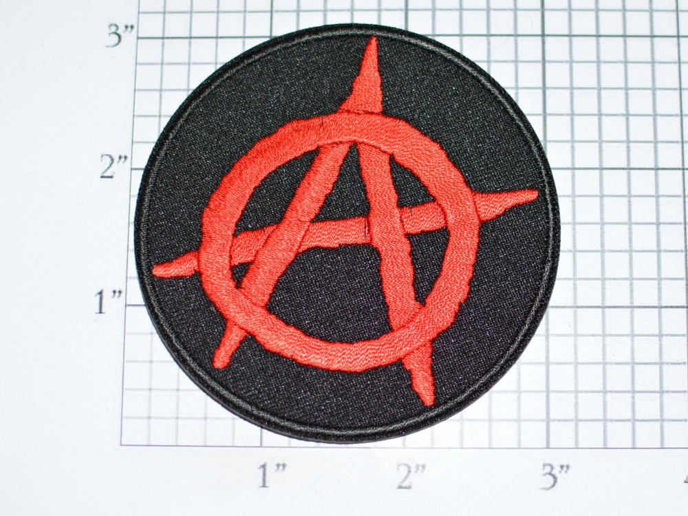 Anarchy Symbol Iron On Clothing Patch Chaos Mayhem Revolution Etsy Clothing Patches Anarchy Symbol Patches